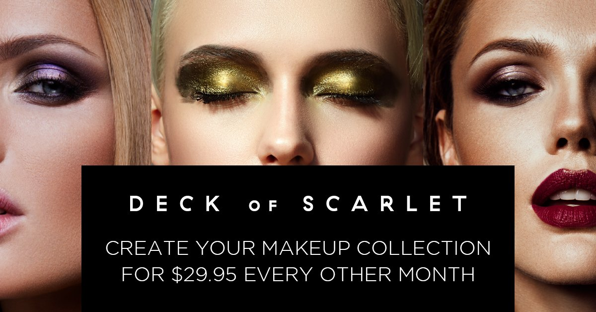 Makeup Subscription Just 2995 Deck Of Scarlet